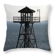 Alcatraz Watchtower Throw Pillow