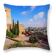 Alcazaba In Granada Throw Pillow