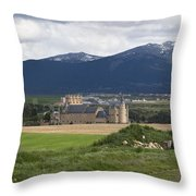 Alcazar Against The Mountains Throw Pillow
