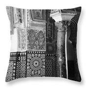 Alcazar Column Arches And Tile Throw Pillow