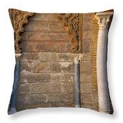 Alcazar Columns In Spain Throw Pillow