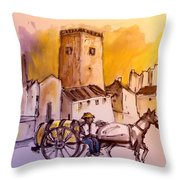Alcazar De San Juan 01 Throw Pillow