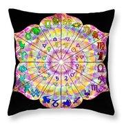 Alchemical Lotus Zodiac Throw Pillow