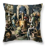 Alchemy: Laboratory Throw Pillow