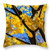 Alchemy Of Nature - Refining The Sungold Throw Pillow