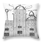 Alchemy: Tower Of Athanor Throw Pillow
