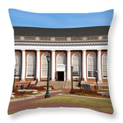Alderman Library At Uva Throw Pillow