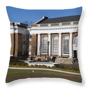 Alderman Library University Of Virginia Throw Pillow