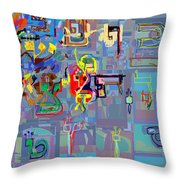 Alef Bais 1h Throw Pillow