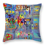 Alef Bais 1q Throw Pillow