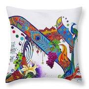 Aleph II Throw Pillow by Dawnstarstudios
