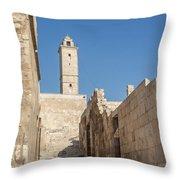 Aleppo Citadel In Syria Throw Pillow