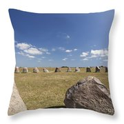 Ales Standing Stones Throw Pillow