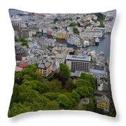 Alesund Norway Throw Pillow