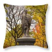 Alexander Hamilton Statue Throw Pillow by Joann Vitali