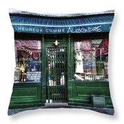 Alexandre Paris France Throw Pillow