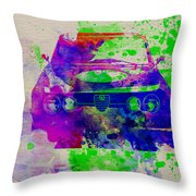 Alfa Romeo Front Watercolor 1 Throw Pillow