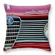 Alfa-romeo Guilia Super Grille Throw Pillow