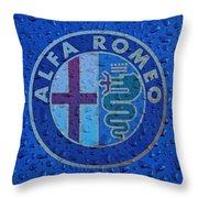 Alfa Romeo Rainy Window Visual Art Throw Pillow