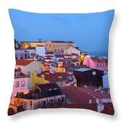 Alfama Rooftops Throw Pillow