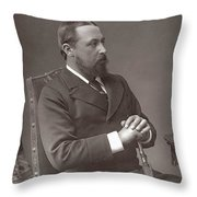 Alfred (1844-1900) Throw Pillow