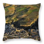 Alhama De Granada From The Air Throw Pillow