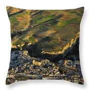 Alhama De Granada Volcanic Lands Throw Pillow