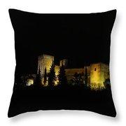 Alhambra At Night Throw Pillow