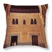 Alhambra Courtyard Throw Pillow