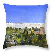 Alhambra Granada Throw Pillow