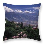 Alhambra View Throw Pillow