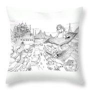Ali Baba Cover Sketch Throw Pillow