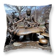 Alice And Friends Throw Pillow