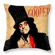 Alice Cooper 1 Throw Pillow