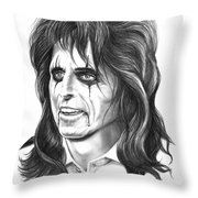 Alice Cooper Throw Pillow