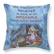 Alice Dream Throw Pillow