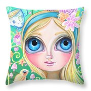 Alice In Pastel Land Throw Pillow