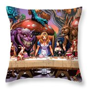 Alice In Wonderland 06a Throw Pillow by Zenescope Entertainment