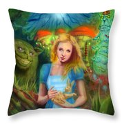 Alice  Throw Pillow by Luis  Navarro