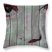 Alice On The Fence Throw Pillow