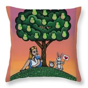 Alicia Time For Love Throw Pillow
