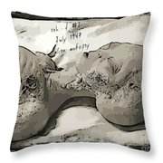 Alien Art Throw Pillow