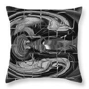 Alien Brain Throw Pillow