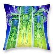 Alien Experiment Throw Pillow by Steve Read