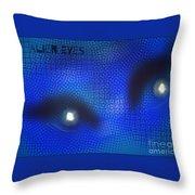 Alien Eyes 2 Throw Pillow
