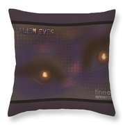 Alien Eyes 4 Throw Pillow