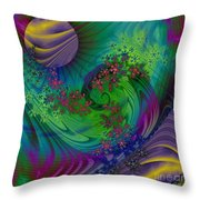 Alien Flora / Worlds Away Throw Pillow
