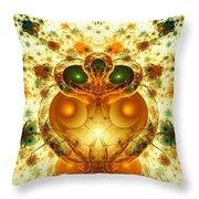 Alien Garden Throw Pillow
