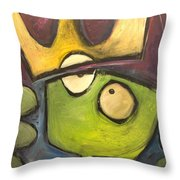 Alien King Throw Pillow
