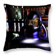 Alien Mind Control Throw Pillow